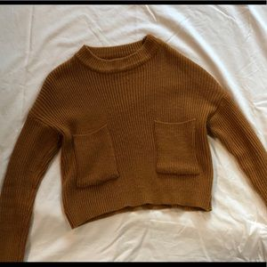 Brown two pocket sweater
